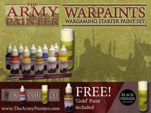 The Army Painter Warpaints: Wargamer Starter Paint Set - Black Primer