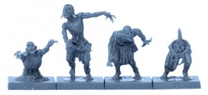Four Mantic Zombies from one sprue