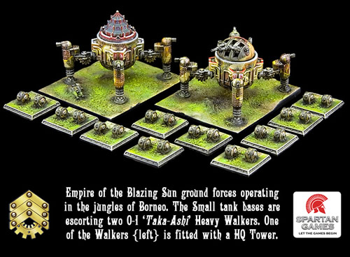 Dystopian Wars Empire of the Blazing Sun Land Forces