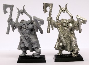 Finecast Resin: Left - Metal: Right